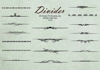 20 Divider Ps Brushes abr. Vol.4