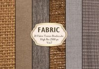 20 Fabric Texture Borstels Vol.7