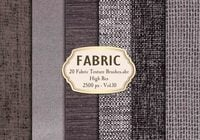20 Fabric Texture Borstels Vol.10