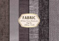 20 Fabric Texture Brushes Vol.10