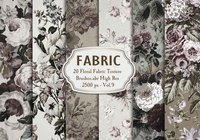 20 Floral Fabric Brushes.abr Vol.9