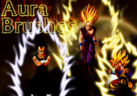 Dragon Ball aura Brushes, set 2