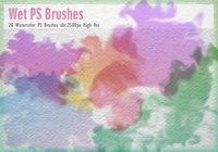 20 Watercolor Mask PS Brushes abr.