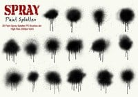 20 Spray Splatter para pintura PS Brushes Vol.6