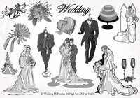 20 Wedding PS Brushes abr  vol.3