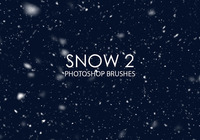 Gratis Snow Photoshop Brushes 2