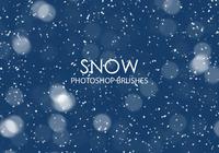 Gratis snö Photoshop borstar