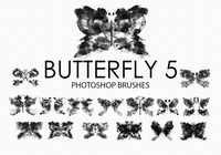 Gratis Waterverf Butterfly Photoshop Borstels 5
