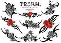 20 Tribal Roses PS Borstels Vol.17