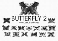 Free Watercolor Butterfly Photoshop Brushes 2