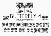 Gratis Acuarela Butterfly Photoshop Brushes 4