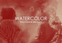 Free Watercolor Wash Pinceles para Photoshop 8
