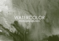Gratis Waterverf Was Photoshop Borstels 9