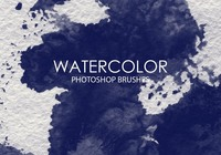 Gratis Waterverf Was Photoshop Borstels 7