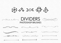 Free Hand Drawn Dividers Photoshop Pinsel