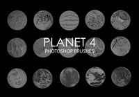Free Abstract Planet Photoshop Brushes 4