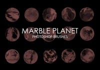 Free Marble Planet Photoshop Brushes
