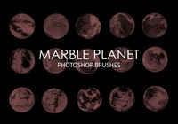 Gratis Marble Planet Pinceles para Photoshop