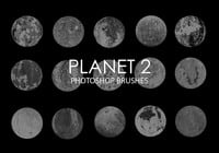 Gratis abstrakta planet Photoshop borstar 2
