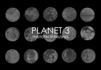 Gratis abstrakta planet Photoshop borstar 3