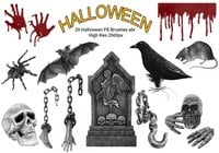20 Brosses PS de Halloween abr