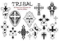 20 Tribal Cross PS Brushes abr.