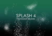 Libre Splash 4 pinceles para Photoshop