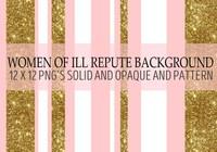 Women of Ill Repute Gold Glitter Background
