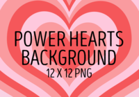 Power Hearts Background