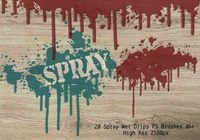 20 Spray Wet Drips PS Brushes Vol.8