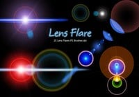 20 Lens Flares PS Brushes abr vol.10