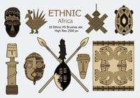 20 Ethnic PS Brushes abr. vol.2