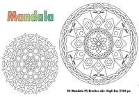 20 Mandala PS Brushes abr. Res vol.1
