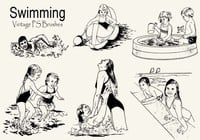 20 Vintage Swimming PS escova abr
