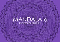 Pinceles gratuitas do mandala photoshop 6