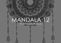 Pinceles gratuitas do mandala photoshop 12