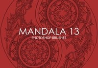 Pinceles gratuitas do mandala photoshop 13