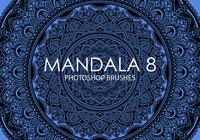 Pinceles gratuitas do mandala photoshop 8