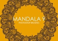 Pinceles gratuitas do mandala photoshop 9