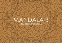 Pinceles gratuitas do mandala photoshop 3