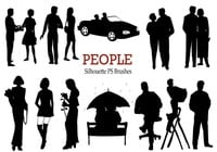 20 Personas Silhouette PS Brushes vol.1