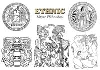 20 Mayan Ethnic PS Pinceles abr. Vol.4