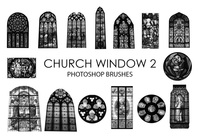 Gratis Church Window Pinceles para Photoshop 2