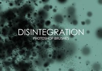 Free Disintegration Photoshop Brushes