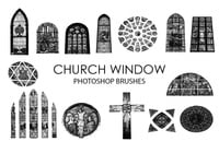 Free Church Window Photoshop Brushes