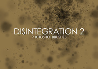 Free Disintegration Photoshop Brushes 2