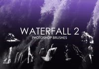 Free Waterfall Pinceles para Photoshop 2
