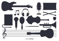 Pinsel Musik Instrument Set