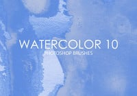 Free Watercolor Photoshop Brushes 10