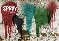 20 Spray Wet Drips PS Brushes Vol.11